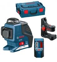 Изображение Лазерный нивелир BOSCH GLL 3-80 P Professional + BM1 (новый) + LR2 + L-Boxx 060106330A